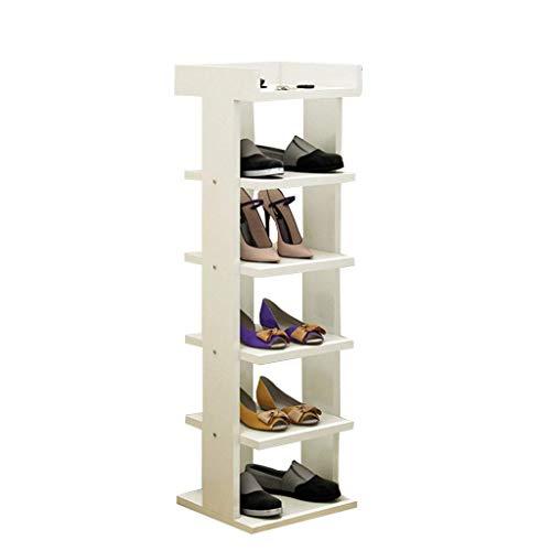 QQXX schoenenrek houten plank pantoffels plantenrek plantenstandaard 30 cm breed wit voor hal/woonkamer/slaapkamer/gang 30 x 30 x 80 cm 30X30X96CM 1