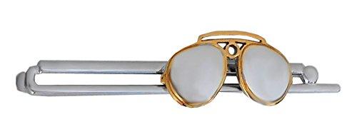 Unbekannt Brille Krawattennadel Krawattenklammer Sonnenbrille Bicolor glänzend m.i. Germany + Geschenkbox