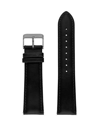 Correa de piel italiana de la marca Watx. Modelo Leather Race / Black / 44mm. Referencia WXCO1722.