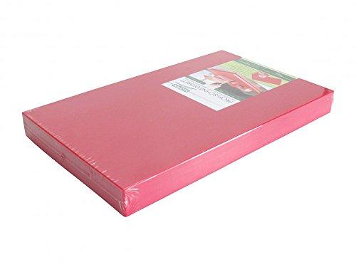 PE-Kunststoff-Schneidebrett GN 1/2 in rot 50 mm stark HACCP-Konzept Gastronorm Schneidebrett Profi-Schneidbrett Kunststoff-Schneidbrett Schneideunterlage
