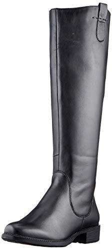 MARCO TOZZI Damen 2-2-25505-25 Leder Langschaftstiefel Kniehohe Stiefel, Black Antic, 41 EU