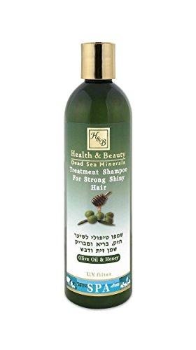 Mer Morte cosmétique - Health and Beauty Dead Sea Minerals - Shampoing traitant à l'huile d'olive et miel - 400 ml,