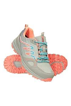 Mountain Warehouse LT Waterproof Womens Hiking Shoes - for Walking Grey Womens Shoe Size 7 US