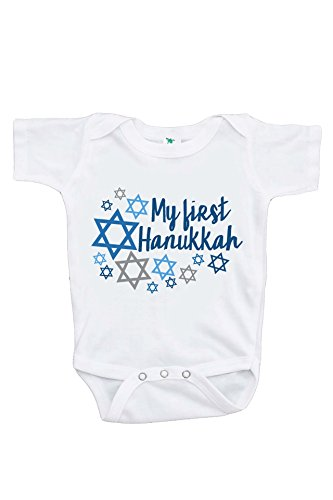 Custom Party Shop Baby's My First Hanukkah Onepiece 3-6 Months White
