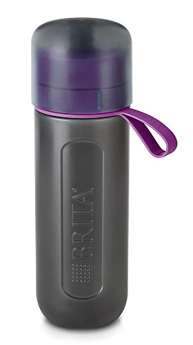 BRITA Wasserfilter-Flasche - fill & go Active - in LILA mit 1 MicroDisc/Trinkflasche