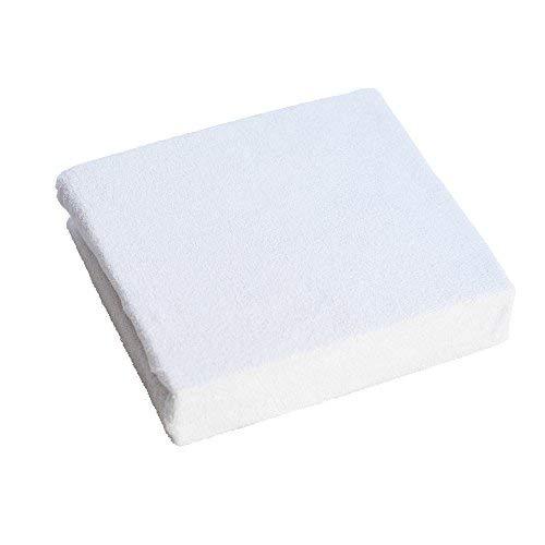 Drap-Housse en Tissu éponge pour lit bébé 120x60cm - Blanc
