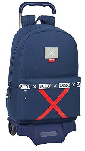 Safta Mochila Escolar con Carro de Munich Spike,300x140x460 mm, Azul Marino
