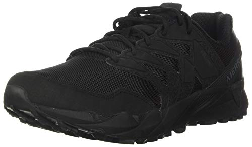 Merrell Agility Peak Tactical Unisex Breathable Shoes, Black, 10.5