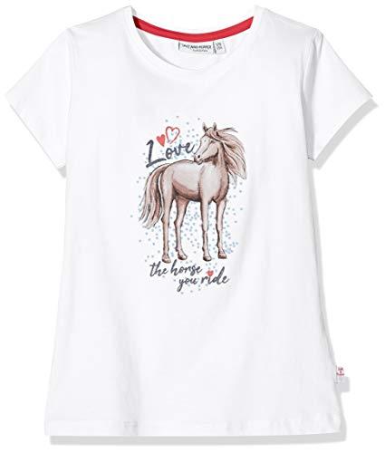 Salt & Pepper Mädchen 03112267 T-Shirt, Weiß (White 010), (Herstellergröße: 104/110)