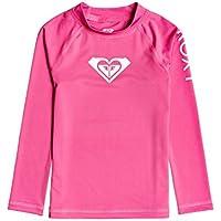 Roxy Whole Hearted - Licra De Manga Larga con Protección Solar UPF 50 para Chicas 2-7 Licra De Manga Larga con Protección Solar UPF 50, Niñas, Pink Flambe, 6