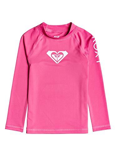 Roxy Kinder Whole Hearted-Langärmliger Rashguard mit UPF 50 für Mädchen 2-7 L/sl Surf Tee, Pink Flambe, 4