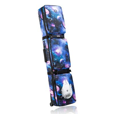 N / A outdoor waterproof ski boots snowboard bag, waterproof polyester fiber, high-density foam pad, 2 separate storage boxes, with rollers