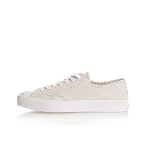 Converse Jack Purcell OX Veloursleder-Sneaker stilvolle Herren Turnschuhe Skater-Schuhe Freizeit-Schuhe Grau, Größe:45