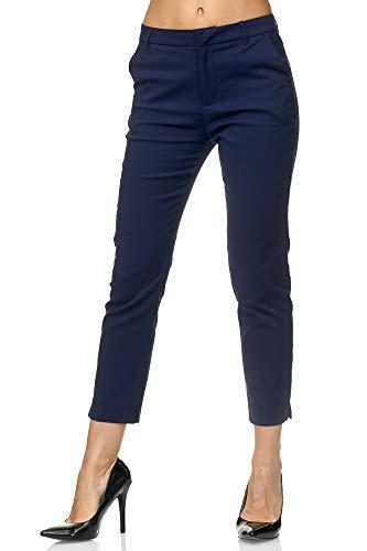 Elara Pantalon Chino para Mujer Chic Slim Fit Chunkyrayan Azul Oscuro VS19001-3 Dk.Blue-36 (S)