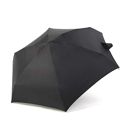 Mdsfe 18 Estilos 180g Ultraligero Pocket Mini Paraguas Lluvia A Prueba de Viento Durable 5 Paraguas Plegables Parasol Portátil con Protección Solar Fresca - con Superficie Negra A, a2