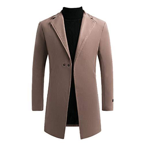 CIELLTE heren wintermantel lang trenchcoat slim outdoor kleur Uni sneeuwvlok jas winddicht voor mannen