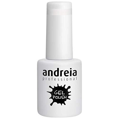 Andreia Semi-Permanent Nagellack Gel Poliermittel Farbe 219 Perle - Schattierungen von Klar und Weiß - 10.5 ml