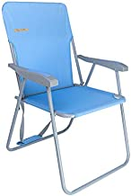 #WEJOY High Back Seat Outdoor Lawn Concert Beach Folding Chair with Hard Arms Shoulder Strap Pocket for Adults Outdoor Camping Festival Sand, Supports 300 lbs