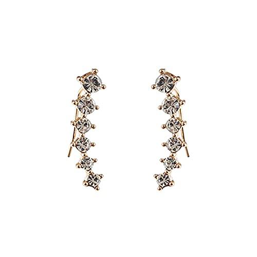Boutiquesi Pendientes De Diamantes De Imitación, Diamond Pendientes De Geometría De Moda, Joyería Exquisita para Las Mujeres, Regalo De Cumpleaños del Día De San Valentín