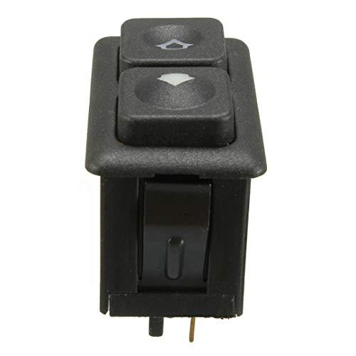 CJYSJK BotóN De Interruptor De Coche 1pcs 5 pasadores de la Ventana de energía eléctrica Interruptor de botón Negro/Ajuste for BMW E23 E24 E28 E30 M5 L6 61311381205 Accesorios for el Coche