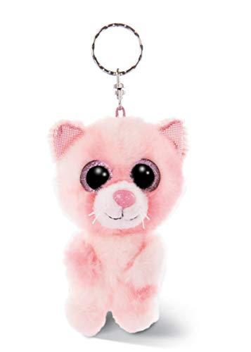 NICI 46613 Glubschis Schlüsselanhänger Katze Dreamie 9cm, Plüschtieranhänger mit Schlüsselring, Stofftierschlüsselhalter