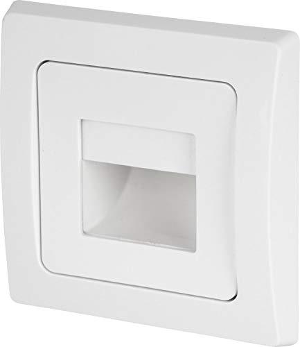 LED Wandeinbauleuchte Stufenleuchte weiß 230V - passend in 60er Schalterdosen - 1,5W 110lm - warmweiß (3000 K)