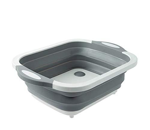 Luckylele Lavandería plegable Hampers Caja plegable Cesta de vegetales platos platos platos platillos para cortar la tapa portátil de lavado de lavabo para lavabo para lavabo conveniente para su almac