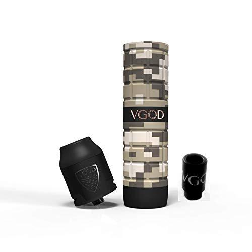 Vgod Pro Mech 2 und Elite RDA Kit Elektronische Zigaretten MOD inkl. Verdampfer Dessert Camo + Drip Tip Vgod Kein Nikotin