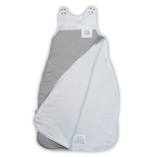 VABY – Baby Schlafsack, OEKO-TEX ®, aus Baumwolle und Bambus, Ganzjahres Schlafsack, Babyschlafsack verstellbar, für Neugeborene bis zu max. 2 Jahren, mitwachsend, Junge und Mädchen, 2.5 TOG (Grau) - 5
