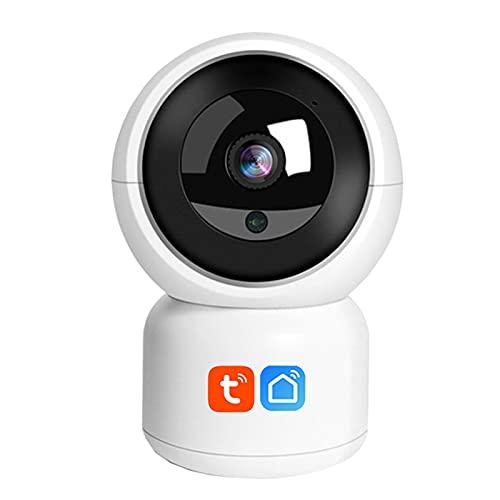 Jings Cámara WiFi para Interiores, cámara de Seguridad para el hogar Tuya Smart Life 1080P, Seguimiento de Movimiento, Audio bidireccional, cámara WiFi inalámbrica Baby Moniter