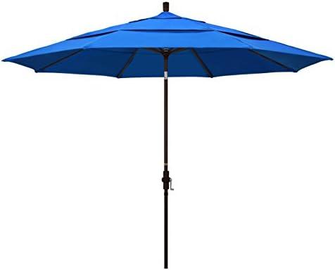 California Umbrella 11 Round Aluminum Market Umbrella Crank Lift Collar Tilt product image