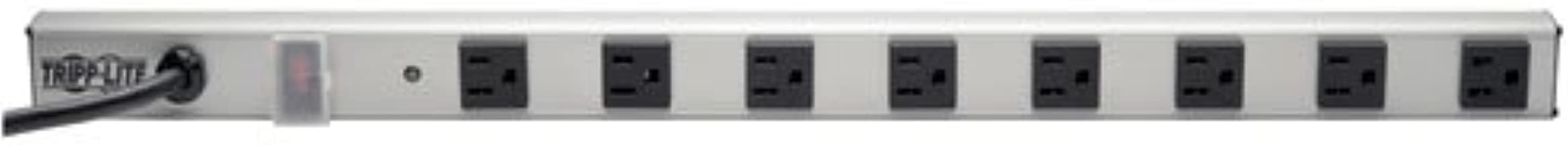Tripp Lite 8 Outlet Power Strip with Surge Suppression, 6ft. Cord, Metal, 24 in. length, (SS240806)