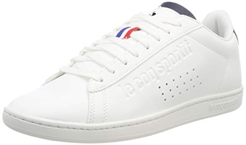 Le Coq Sportif Unisex-Erwachsene Courtset Sneaker, Weiß (Optical White/Dress Blue Optical White/Dress Blue), 36 EU