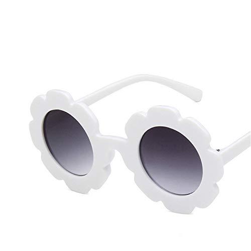 YTYASO Gafas de Sol para niños Gafas de Sol para niños Flor Redonda Bebé Niños Deporte Gafas de Sol Lindas con Flores