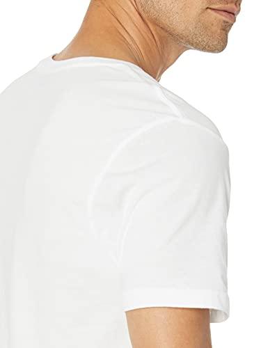 Amazon Essentials 6-Pack Crewneck Undershirts Camisa, Blanco (White), Large