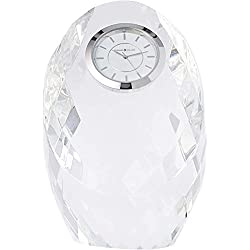 Howard Miller Rhapsody Table Clock 645-732 - Glass Crystal with Quartz Movement