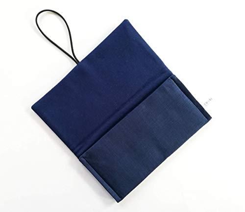 Schutzhülle für ereader oder kleines Tablet Hülle für Lasegerät Tasche, Cover,Sleeve, Bag für Kindle, Tolino, Feuer 7, Kobo. Kleines Geschenk. Blau Schwarz