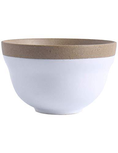 wsetrtg Tazones de Cereales Tazón de Sopa de Fideos Tazón de Ensalada de Frutas Creativo Tazón de cerámica para el Desayuno Plato de Desayuno Tazón de Sopa Tazón de Ramen Tres tamaños