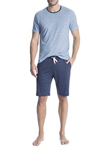 Calida Casual Easy 1 Kurz-Pyjama Herren, S = 4, Nordic