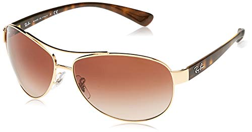 Ray-Ban RB3386 Sonnenbrille, RB3386 001/13 63 Gold Tortoise/Brown Gradient