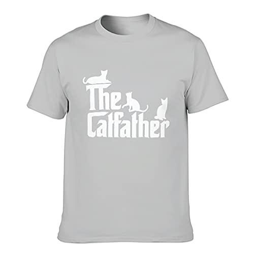 Camiseta de algodón para hombre, diseño de gato y padre