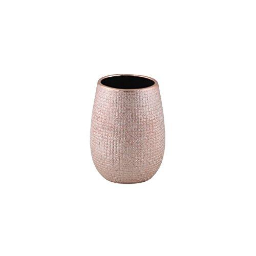 axentia Zahnbürstenhalter Hollywood roségold, hochwertig verarbeiteter Zahnbürstenständer aus Keramik mit schlichtem Design in schöner Farbe