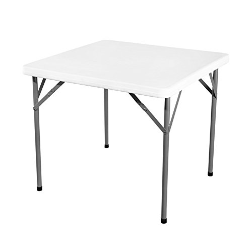 Table pliante réglable Table carrée/Table de Salle à Manger en Plein air/Bureau d'ordinateur Portable/Bureau de Livre Enfants/Ameublement / 86 * 86 * 74CM Peut être tourné