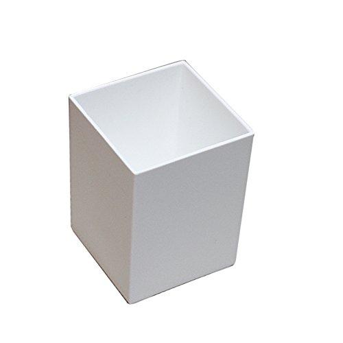 Ornerx Square Shape Pencil Holder Desk Organizer White