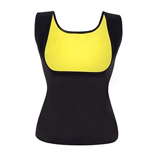 Mujeres Sin Cremallera Grasa Sudor Caliente Que Adelgaza Camisa de Neopreno Chaleco Body Shaper Tank para Quemador de Grasa (Color : Black, Size : L)