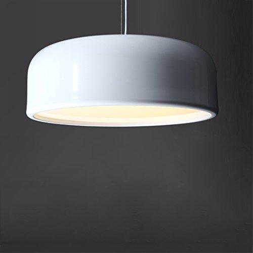LED Personnalité Lustre Creative Pot Design Restaurant Bar Maison Décoration Chambre Café Fer Lampe D26 Rollsnownow (Couleur : Blanc, taille : 48cm)
