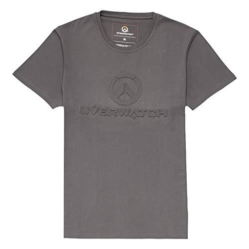 Overwatch Herren T-Shirt 3D Logo grau - XL