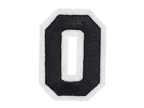 Miniblings Numéro zéro correctif Patch collège Noir 0 Nombre