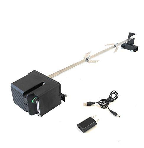 ALLEGRI Girarrosto per Barbecue TEPRO,DARDARUGA Alimentazione USB Velocita' Regolabile Spiedo e fermacarne Portata 15 kg