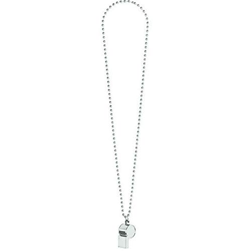 silver whistle with chain - 3